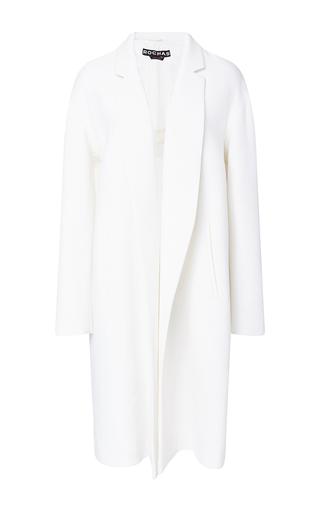 Medium rochas ivory crepe oversized coat