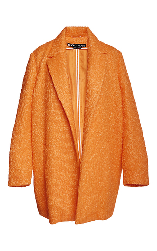Medium rochas orange candy floss coat