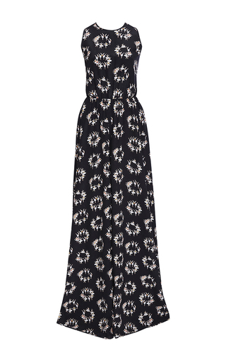 Silk Crepe De Chine Ballerina Printed Gown by ROCHAS Now Available on Moda Operandi