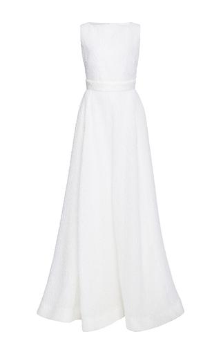 Medium rochas ivory gloss a line gown