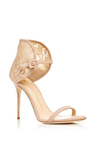 Medium giuseppe zanotti nude mistico calf leather sandals with lace heel