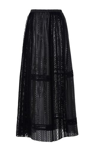 Medium thakoon black crochet leather maxi skirt