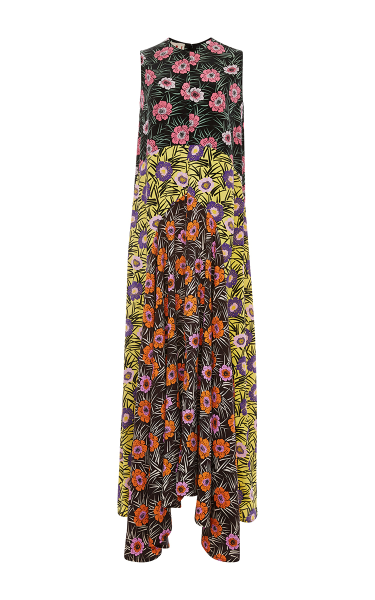 769e8b99a52e Mixed Floral Printed Maxi Dress by Marni | Moda Operandi