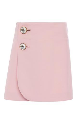 Medium marni pink pink double worsted wool mini skirt