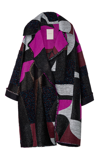 Medium roksanda ilincic black tapestry jacquard marles coat
