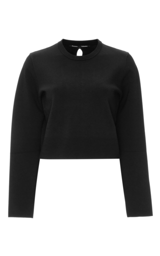Black Long Sleeved Cropped Top by PROENZA SCHOULER Now Available on Moda Operandi