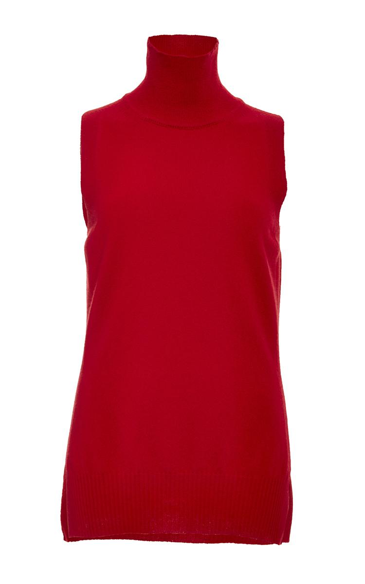 80f8c00bb64ac Rosetta GettyScarlet Cashmere Sleeveless Turtleneck Sweater. CLOSE. Loading