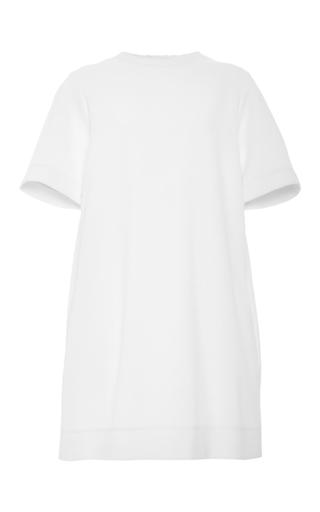 Medium rosetta getty ivory cotton scuba cocoon t shirt dress