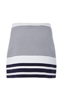 Sailor Stripe Interlock Mini Skirt by ROSETTA GETTY Now Available on Moda Operandi