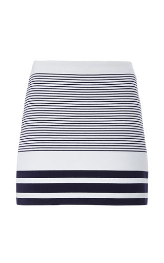 Medium rosetta getty navy sailor stripe interlock mini skirt