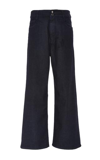 Medium rosetta getty dark wash japanese stretch denim high rise wide leg jean