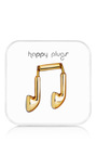 Made To Order 18 K Gold Earbuds  by HAPPY PLUGS Now Available on Moda Operandi