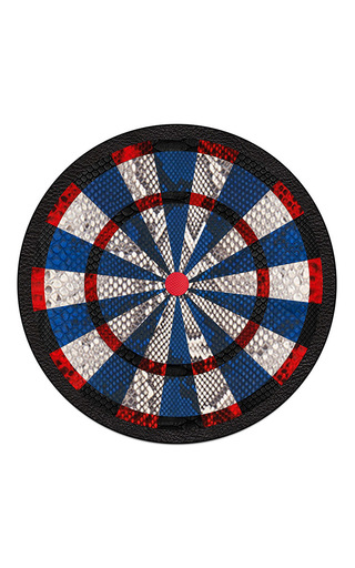 Made To Order Python Leather Dartboard  by JAMIE CLAWSON Now Available on Moda Operandi