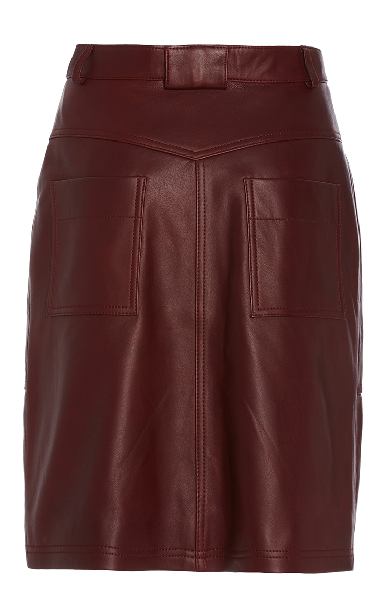 leather skirt by carven moda operandi