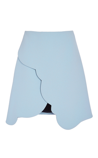 Scallop Edged Double Crepe Skirt by CARVEN Now Available on Moda Operandi