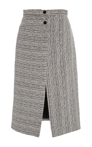 Cotton Blend Textured Stripe Fantasy Skirt by CARVEN Now Available on Moda Operandi