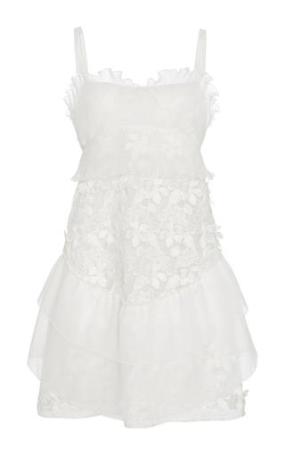 Medium giamba white white tiered peplum dress