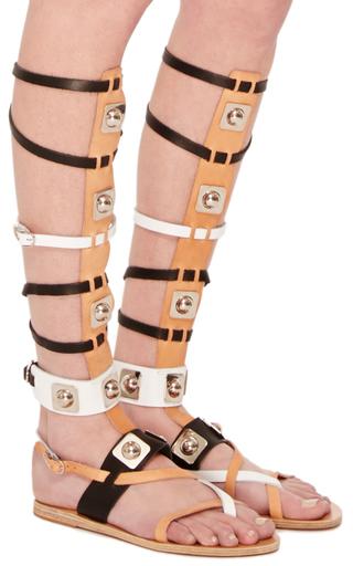 9f81f3e7d1bf Ancient Greek SandalsHigh Gladiator Sandal in Tri-Color Vachetta Leather