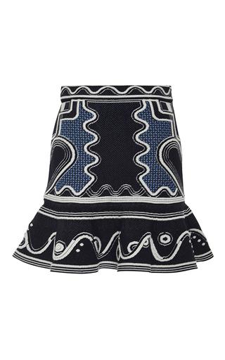 Medium peter pilotto navy lito knit skirt