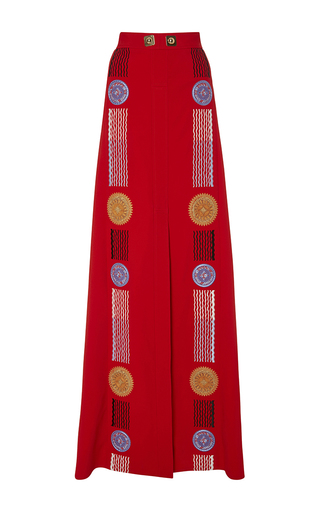 Medium peter pilotto red red embroidered medea maxi skirt
