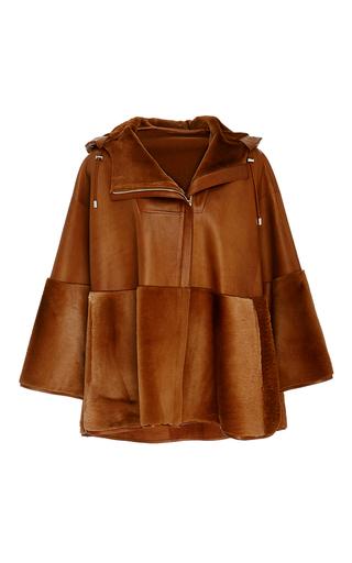 Medium prabal gurung tan super luxe leather and kangaroo cape