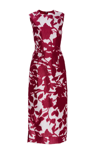 Silk Cotton Floral Shadow Print Dress by PRABAL GURUNG Now Available on Moda Operandi