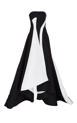 Medium prabal gurung black silk faille strapless gown