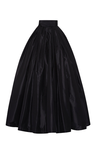 Medium naeem khan black taffeta ball skirt