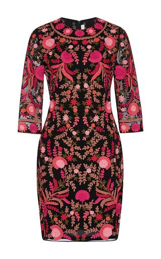 Medium naeem khan black floral embroidered sheath dress