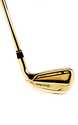 Medium gold genie gold taylor made 24k rose gold four iron gold club