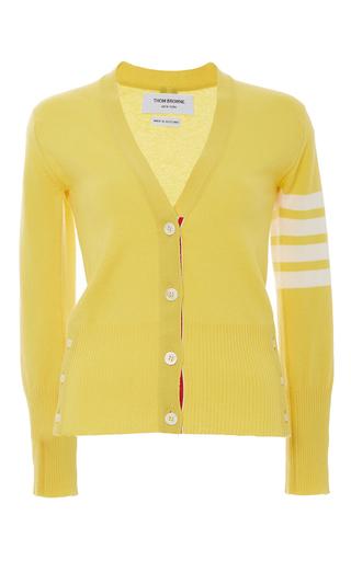 Medium thom browne yellow yellow cashmere cardigan