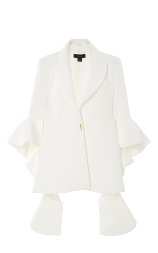 Medium ellery ivory textured crepe majesty jacket