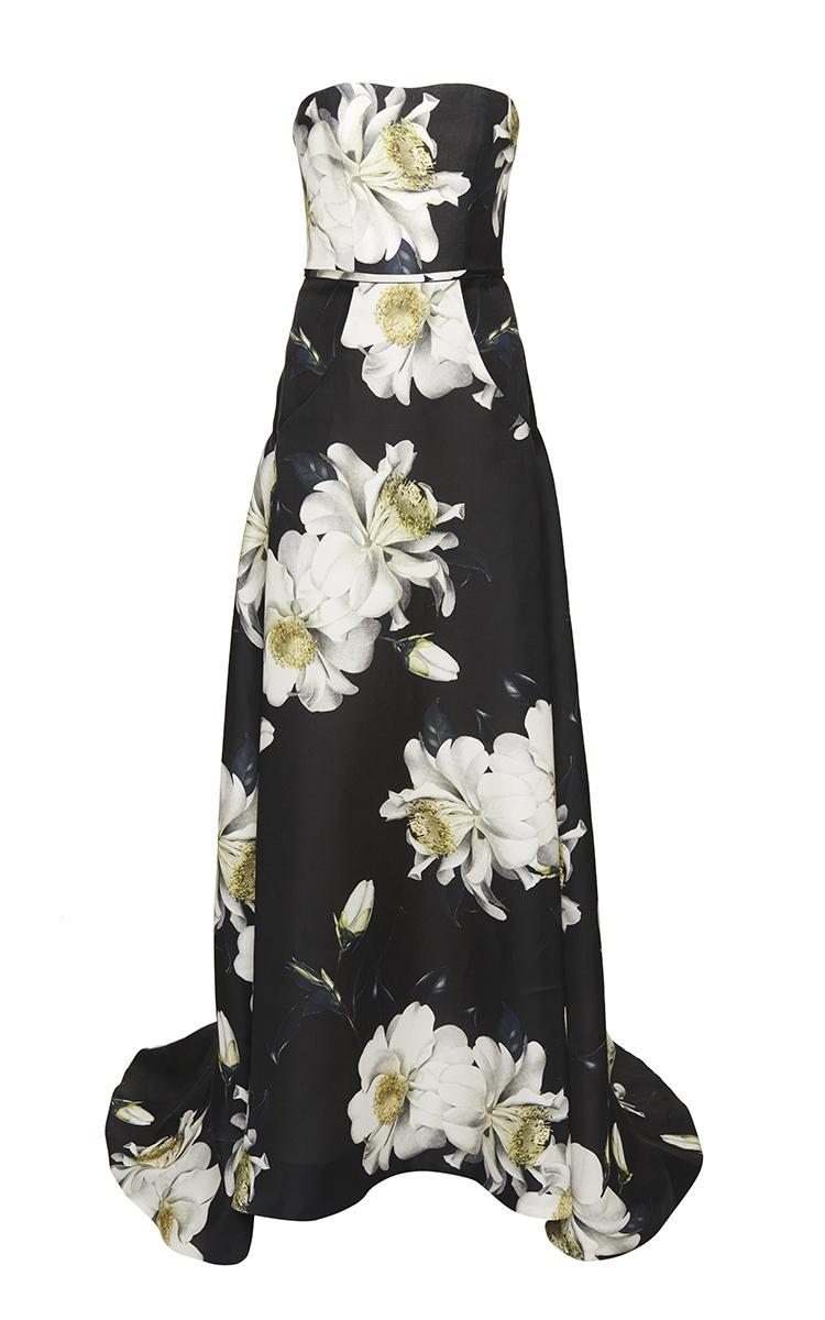 46ec82fdfa65 Strapless Floral Gazaar Gown by Carolina Herrera   Moda Operandi