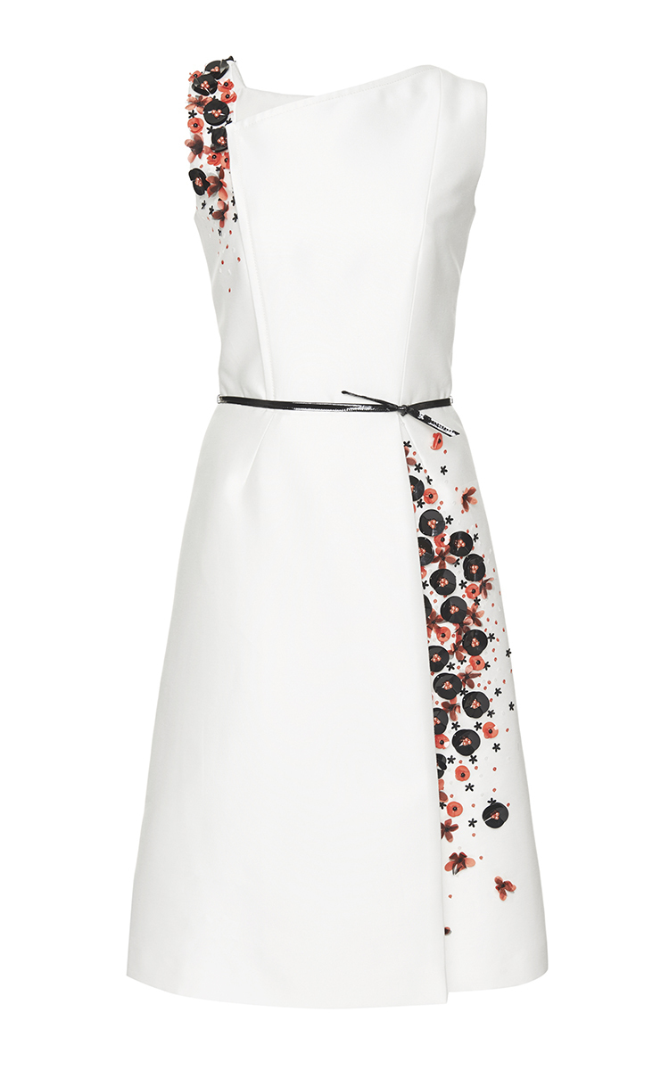 Mikado Cocktail Dress by Carolina Herrera | Moda Operandi