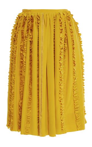 Pleated Ruffled Midi Skirt by ROCHAS Now Available on Moda Operandi