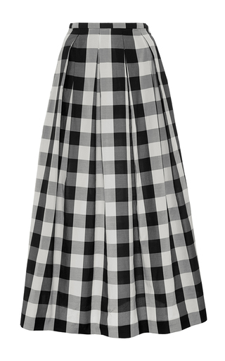 Silk Gingham A Line Skirt by ROCHAS Now Available on Moda Operandi