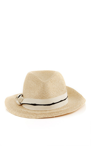 Lillian Striped Ribbon Fedora by EUGENIA KIM Now Available on Moda Operandi