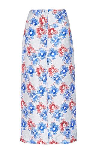 Silk Printed Celina Button Up Maxi Skirt by PIAMITA Now Available on Moda Operandi
