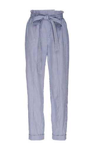 Medium piamita blue billie cotton high waisted cropped pants
