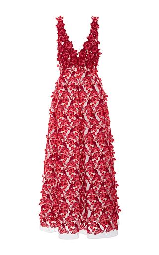 Floral Appliqué Maxi Dress by GIAMBA Now Available on Moda Operandi