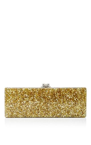 Medium edie parker gold flavia ribbon long rectangular clutch