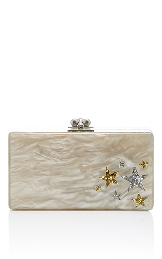 Medium edie parker nude jean star cluster short rectangular box clutch