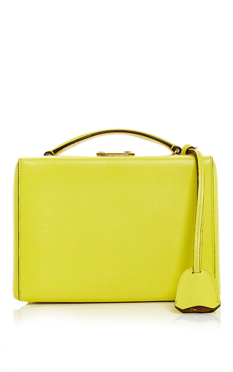 108ba07649cb Mark CrossGrace Small Box Bag in Lemon Saffiano Leather. CLOSE. Loading
