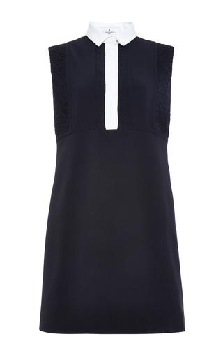 Medium j mendel black silk sleeveless shirtdress