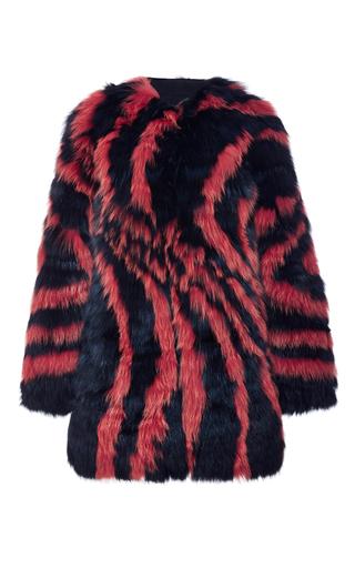 Medium j mendel navy shadow fox graphic swirl coat