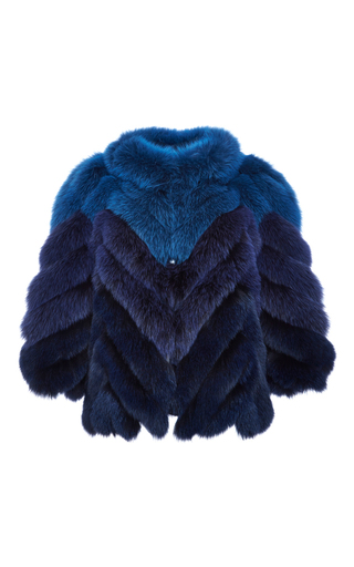 Medium j mendel blue shadow fox chevron jacket