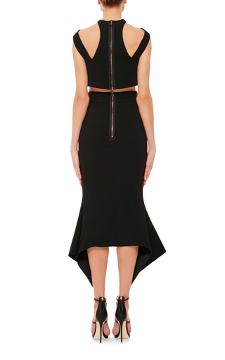 Black Segment Crop Top by MATICEVSKI Now Available on Moda Operandi