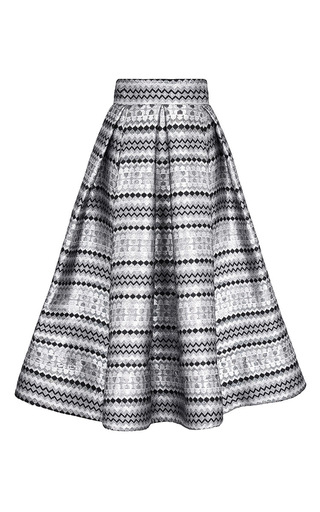 Medium maticevski light grey kaleidoscope idealized skirt