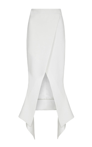 Medium maticevski white venom wrapped skirt