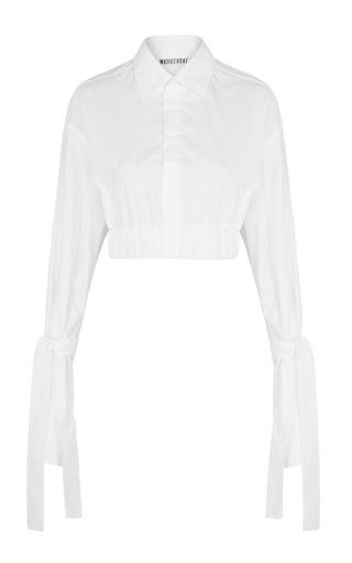Medium maticevski white habitual cropped shirt